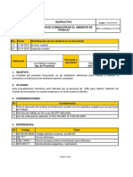 IT-SP-SG-6526 Instructivo Para Medicion de Iluminacion en Ambiente de Trabajo-Rev2