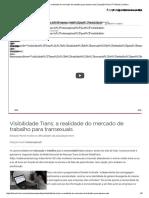 Visibilidade Trans_ a Realidade Do Mercado de Trabalho Para Transexuais _ Estação Plural _ TV Brasil _ Cultura