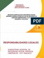 Charla Responsabilidades Legales Ley 1562 de 2.012