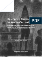 Descriptive Terminology for Art on Paper