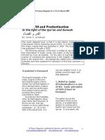 Abu Banaat - Summary of 'Umar S. Al-Ashqar - Divine Will and Predestination