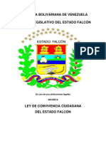LEY DE CONVIVENCIA CIUDADANA DEL ESTADO FALCÓN