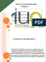 Exposición contrato de Depósito