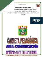 Carpeta Pedagógica comunicación