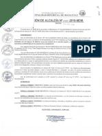 005. CESAR en EL CARGO a Partir Del 03 de Enero 2018 Al Ing. Fredy Delgado Monteza Como Gerente de Obras y Desarrollo Urbano.