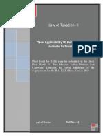 Law of Tax- I
