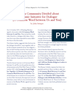 Christian Community Divided, by John Stringer