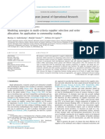 Modeling synergies in multi-criteria supplier selection and order allocation