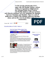 VATICAN-IsLAM Benedict XVI's Improbable Dialogue With 138 Muslim Scholars - Asia News