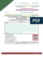 NANOSUSPENSIONS - A PROMISING NOVEL DRUG DELIVERY SYSTEM