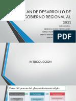 Plan de Desarrollo de Gobierno Regional Al 2021