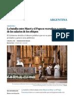 La Batalla Entre Macri y El Papa Recrudece
