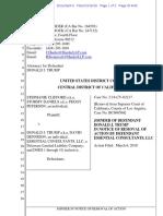 Stephanie Clifford v. Donald Trump Et Al Joinder