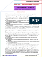 Current Affairs Weekly Pocket PDF 2018 - March(8-15) by AffairsCloud