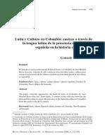 Latín y Cultura en Colombia - Gonzalo Soto Posada, Historia y Sociedad no. 12, Medellín, noviembre 2006.pdf