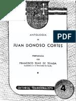 Antología de Juan Donoso Cortés - Preparada Por Francisco Elías de Tejada