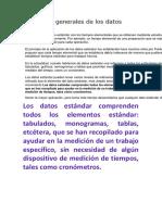 Conceptos Generales de Los Datos Estándar