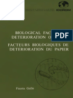 Biological factors in deterioration of paper (1985)