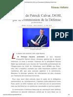 Audition de Patrick Calvar, DGSI, par la Commission de la Défense, par Patrick Calvar