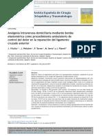 Analgesia Intravenosa Mediante La Bomba Elastomerica. Artic