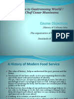 2.0.History,Organization and Professionalism of Culinary Arts