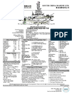 5150bhp Handysize Asd Tug Spec Outline