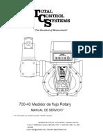 Tcs_700-40_manual, Medidor Cargadero Condensados. ESPAÑOL