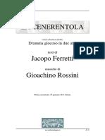 La Cenerentola Libretto, Jacopo Ferretti, G. Rossini