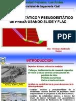 Analisis Estático y Pseudoestático de Estabilidad de Presas Usando Flac