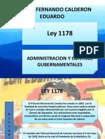 LEY 1178 Calderas