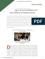 Les Trucages de La Foundation for the Defense of Democracies