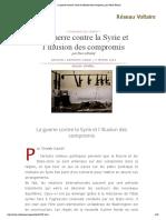 La Guerre Contre La Syrie Et l'Illusion Des Compromis, Par Pierre Khalaf