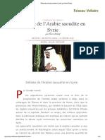 Défaite de l'Arabie saoudite en Syrie, par Pierre Khalaf