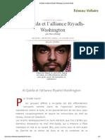 Al-Qaïda et l'alliance Riyadh-Washington, par Pierre Khalaf