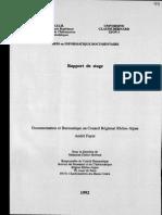 62735 Documentation Et Bureautique Au Conseil Regional Rhone Alpesrapport de Stage