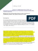 La Escritura de La Ciudad Para El Establecimiento de La Nación. Lastarria, Bello, Sarmiento