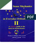 Sentido Comun de La Mecanica de La Ortodoncia Diaria - Thomas F. Mulligan