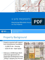 K Site Presentation — March 15, 2018