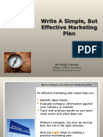 Write a Simple but Effective Marketing Plan 1204555145864566 2