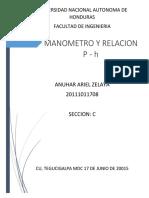 Laboratorio Manometría Fluidos