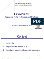 Environment Regulations Control Technologies and Challenges 2012