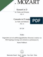 92847162 Mozart Violin Concerto No 4 in D Major KV218 Barenreiter Vln