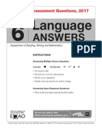 G6 Language Answers Bklt 2017