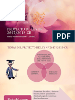 Proyecto de Ley Nº 2647