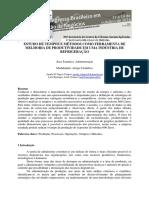 Estudo de Tempos e Metodos Como Ferramenta de Melhoria de Produtividade Em Uma Industria de Refrigeracao