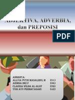 Adjektiva, Adverbia, dan Preposisi