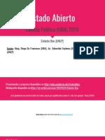 Unidad I - Estado Abierto (UBA, 2018)