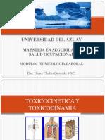TOXICOCINETICA TOXICODINAMIA