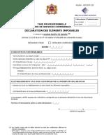 Formulaire de Déclaration de La TP-TSC