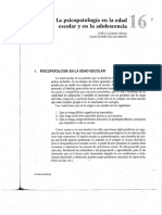 La Psicopatología en La Edad Escolar y en La Adolescencia. Páginas 271-286
